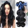 Productos para el Cabello rosa 8A Pelo Virginal de la Onda Brasileña Del Cuerpo 4 Paquetes Del Pelo Brasileño Paquetes Armadura Del Pelo Humano Teje Gris cheveux