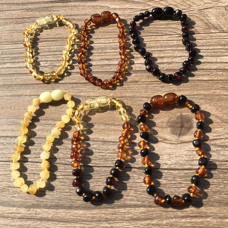 HTB1p3nvLHPpK1RjSZFFq6y5PpXaV Yoowei 6 Colors Natural Amber Bracelet/Anklet Chic Women Amber Bracelet Baltic 4mm Small Beads Baby Teething Jewelry Wholesaler