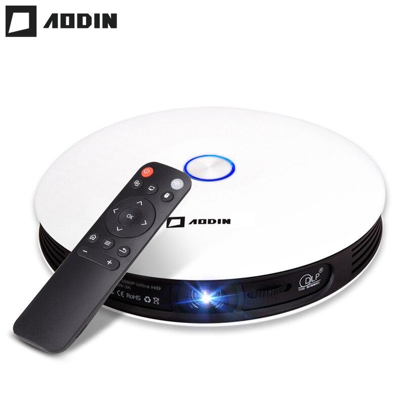 AODIN M18 DLP projecteur HD 3D projecteur de poche HDMI 1080 P 4 K LED pour home cinéma Portable projecteur 2G DDR3 16G Android 5G WIFI