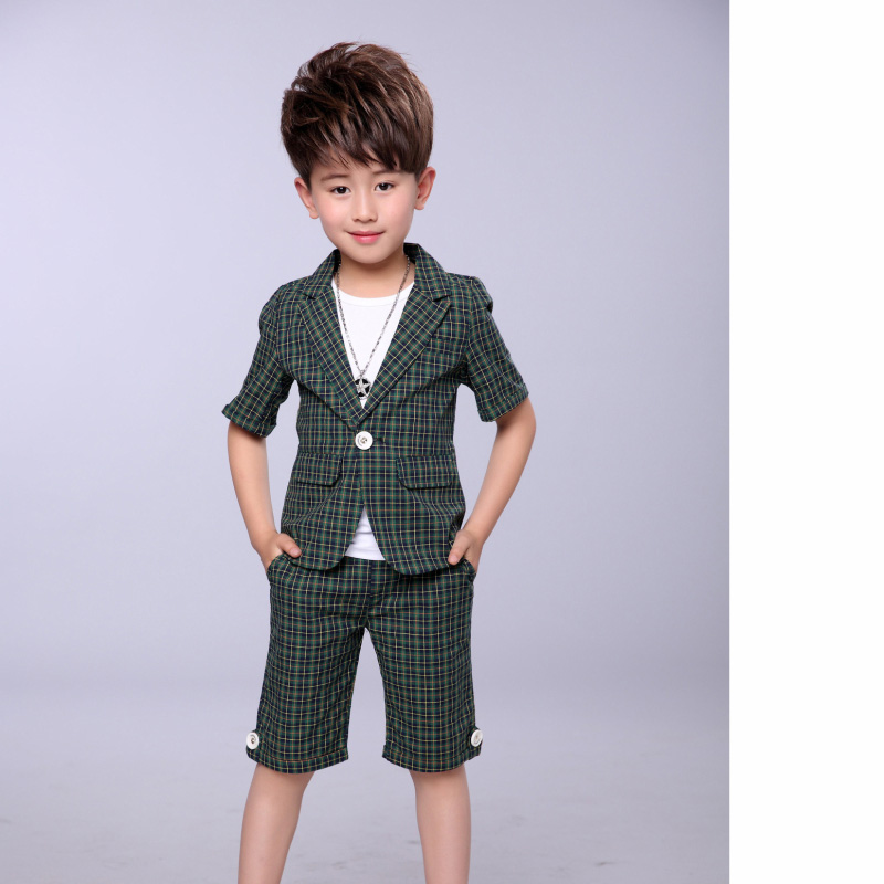 ed229153a Kindstraum 2017 Fashion New Boys Formal Suits Summer 2pcs Kids Plaid  Blazer+Pants Gentleman Children Wedding Clothing Sets,MC708-in Clothing  Sets from ...
