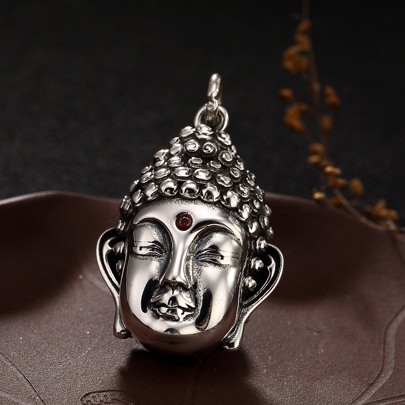 Здесь продается  Sterling Silver Antique Thai Silver Makes Old Smooth Buddha Head Pendant, Male Female Couple Coin Pendant Wholesale  Ювелирные изделия и часы
