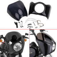 1 Set Motorcycle Front Black Primer Fairing Windshield Windscreen For Harley Dyna 49mm Low Rider Street