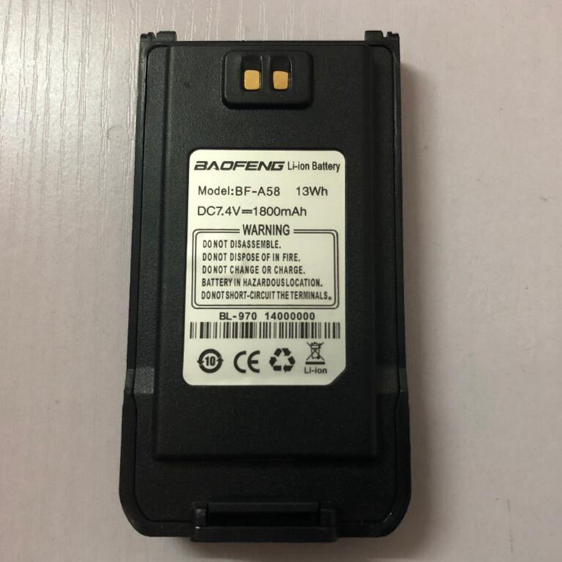 Baofeng-A58 walkie talkie battery powerful 1800mAh Li-ion battery use for waterproof A58 two way radio accessories