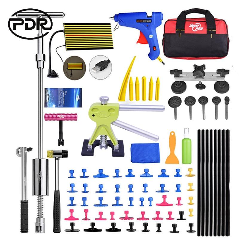 PDR Tools Dent Removal Car Dent Repair Car Body Repair Kit Paintless Dent Repair Dent Puller Slide Hammer Bridge Puller Tool Set