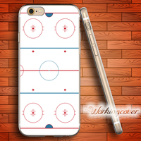 Capa Ice Hockey Rink Soft Clear TPU Case For IPhone 6 6S 7 Plus 5S SE