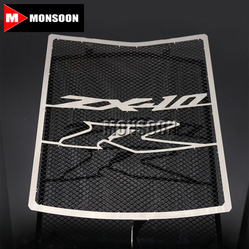 For Kawasaki ZX-10R ZX10 ZX 10R 2011-2014 2012 2013 Motorcycle Accessories Radiator Grille Guard Cover Fuel Tank Protection motorcycle radiator grill grille guard screen cover protector tank water black for bmw f800r 2009 2010 2011 2012 2013 2014