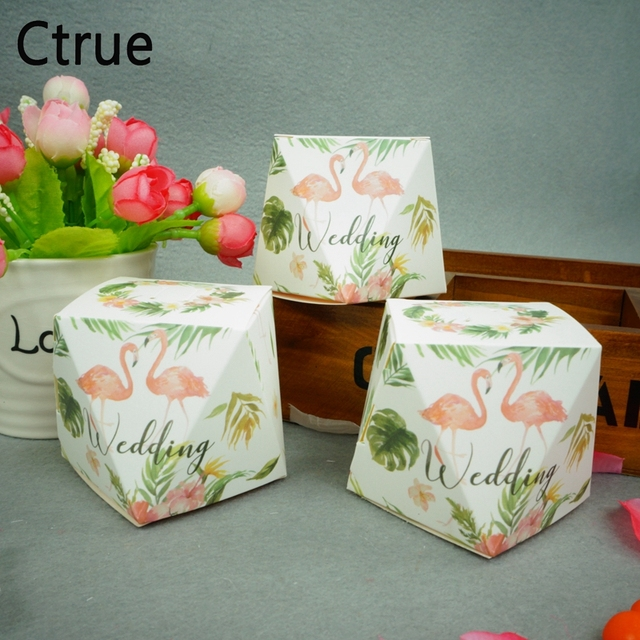 20pcs Flamingo Candy Box Chocolate Gift Boxes Wedding Souvenirs For