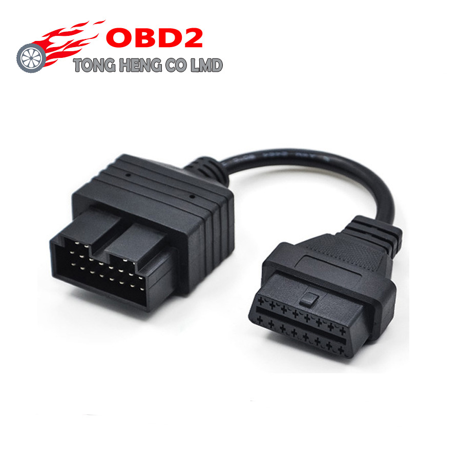 For KIA 20 Pin To 16 Pin OBD 2 II Female Diagnostic Adapter Car Connector Cable