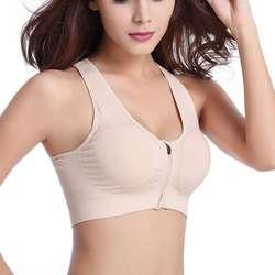 Для женщин передняя молния синтетическое закрытие волос Push Up бюстгальтеры для противоударный фитнес жилет съемный мягкий бесп