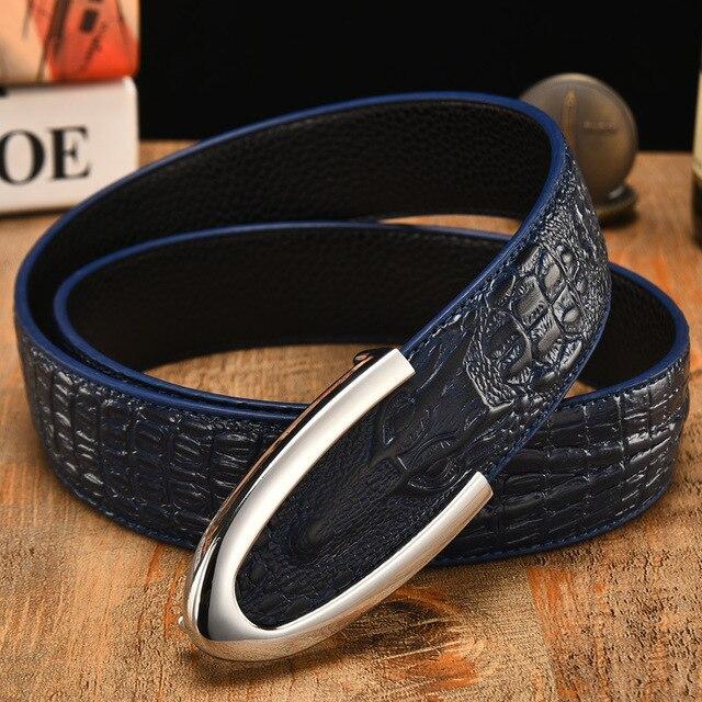 XMY3DWX mâle de haute qualité crocodile grain ceinture Haute qualité hommes  de ceinture en cuir 927f5515935