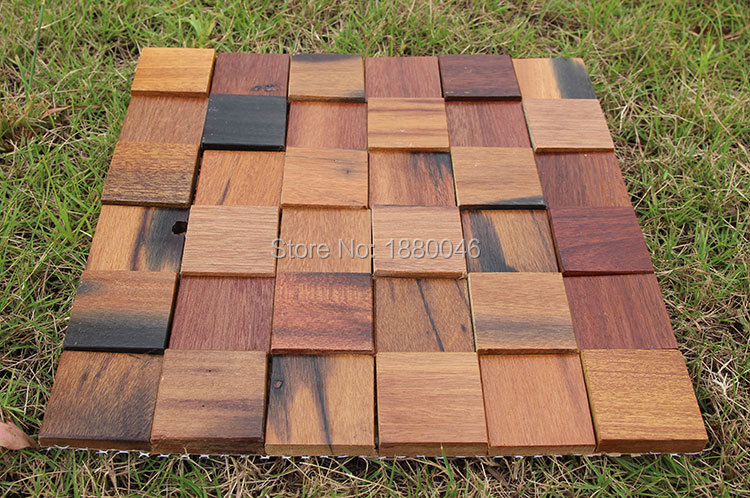 Us 129 72 6 Off High Quality Ship Wood Mosaic Tile Innovative Building Materials Interior Wall Decorative Wooden Wall Panel In Wall Stickers From