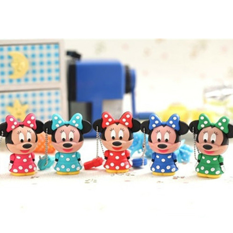New Arrival Pen Drive Cartoon Minnie Shape Usb Flash Drive 64gb 8gb 16gb 32gb 6gb Memory Disk Stick Pendrive Gift For Girl  Love