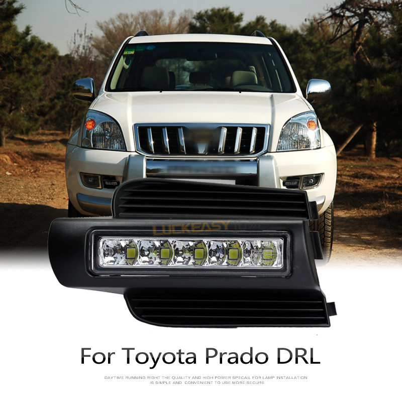 LED DRL For Toyota Land cruiser prado 120 LC120 FJ120 2003~2009 daytime running lights with light-off function cnc racing rearset adjustable rear sets foot pegs fit for kawasaki ninja zx10r 2011 2012 2013 2014 2015 black