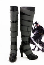 Anime black butler 쿠로시 츠지 undertaker cosplay boots shoes 할로윈 코스프레 a519 사용자 정의(China)