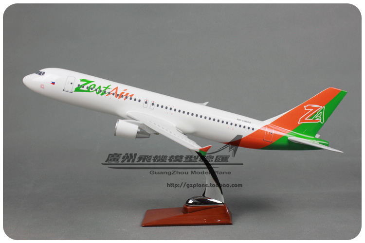 47cm Resin Philippines Airways Airplane Model Zest Air Airlines Aviation Model A320 Airbus Aircraft Plane Model Toys Gifts 1:80 цена