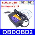 Автомобильный диагностический сканер ELM327  USB пластик  OBD2  версия V1.5 ELM 327  USB интерфейс  сканер CAN-BUS  бесплатная доставка