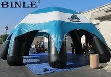Изготовленный на заказ высококачественный прочный водонепроницаемый надувной паук купольная палатка с синей навесной чехол для выставки автомобилей