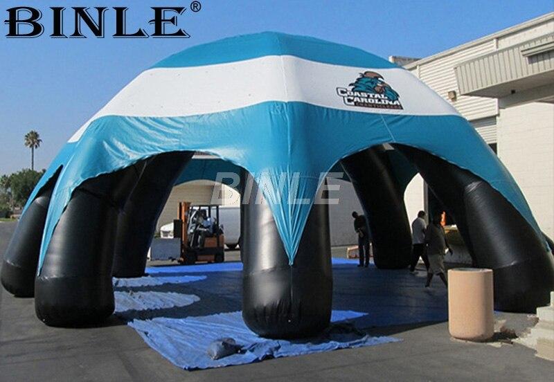 Personalizado de alta qualidade à prova d' água durável tenda aranha inflável cúpula tenda com azul cobertura do dossel para a exposição de automóveis