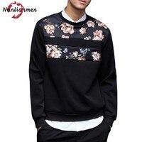 2017 New Floral Sweatshirt Men Hip Hop Sweatshirt Male Sweatshirt Moletom Masculino Sudadera Hombre Blusa De