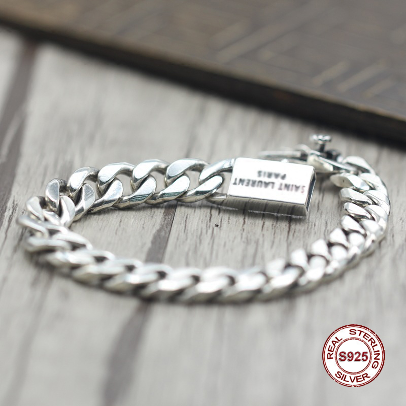 2017 s925 sterling silver new bracelet Simple and generous popular Retro braided bracelet Classic style Send