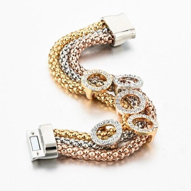Купить женский браслет из нержавеющей стали с кристаллами sbr160366 картинки