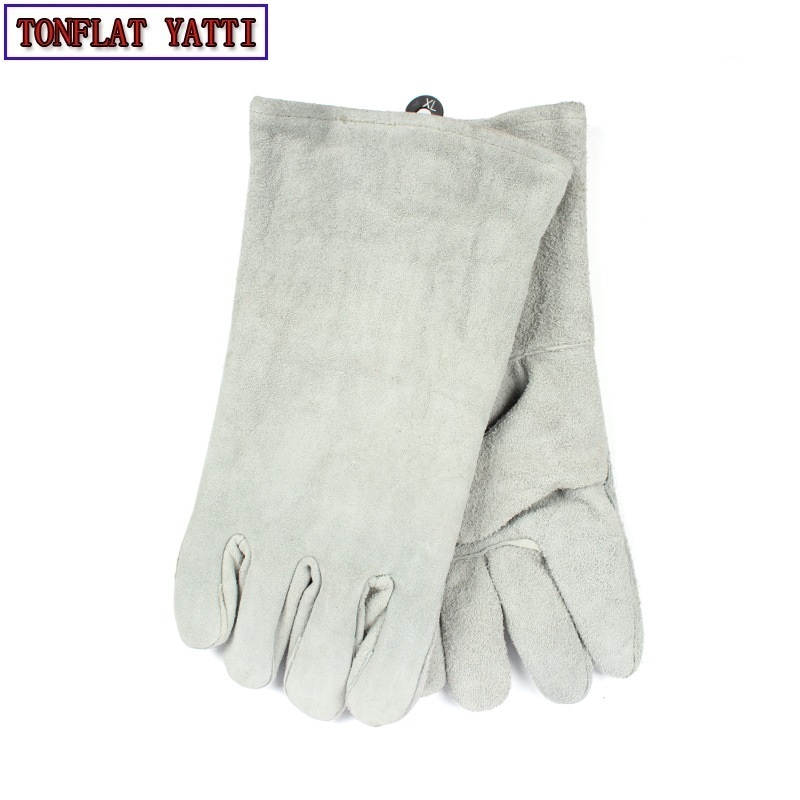 2018 New Cowhide Gas Cutting Welding Work Gloves TIG MIG MAG Arc High Temperature Wear-Resistant Work Labor Protection GLOVES high quality hand tool gloves 12 pairs 700g cotton gloves wear resistant work thick gloves against high low temperature gloves