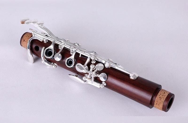 rosewood mogno clarinete silvering chaves de madeira maciça