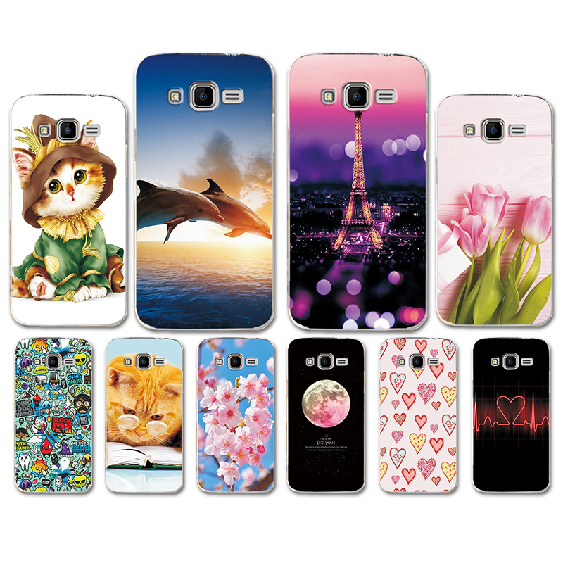 Cases For <font><b>Samsung</b></font> <font><b>Galaxy</b></font> <font><b>Core</b></font> <font><b>Prime</b></font> G360 G3606 G3608 G3609 G361F <font><b>G360H</b></font> G360F G361H Soft TPU Heart Pattern Cover Bumper Shell image