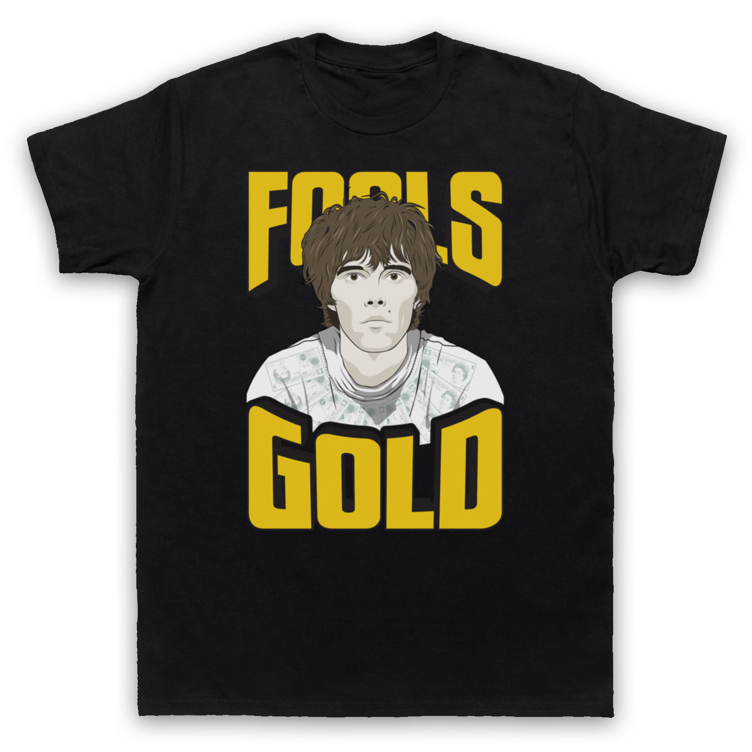 Women T- Shirt FOOLS GOLD THE STONE ROSES MADCHESTER ROCK UNOFFICIAL T-SHIRT LADIES