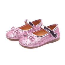 2019New Kids Shoes Bling Childrens flat shoes Baby Girls for Cocktail Party 1 2 3 4 5 6 7 8Years Old Gold Pink