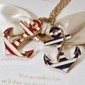 Nova gros collier colar âncora pingente colar de cadeia longa de ouro bijoux collier ras de cou esmalte colares pingentes para homens