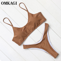 OMKAGI Brand Sexy Bikinis Set Swimwear Swimsuit Women Push Up Swimming Bathing Suit Beachwear Brazilian Bikini