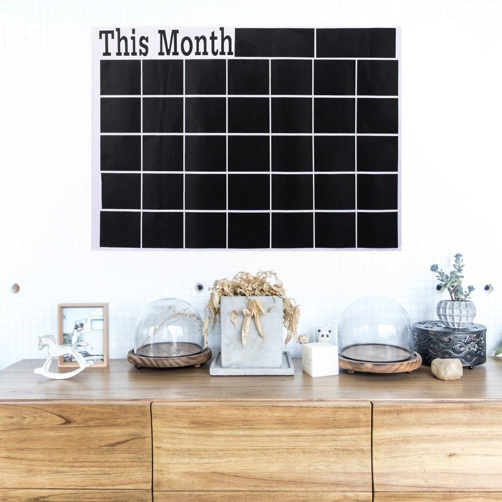 1pc Removable Monthly Chalkboard Plan Chalk Board Vinyl Blackboard For Study Room Office 58 X 43cm Mayitr