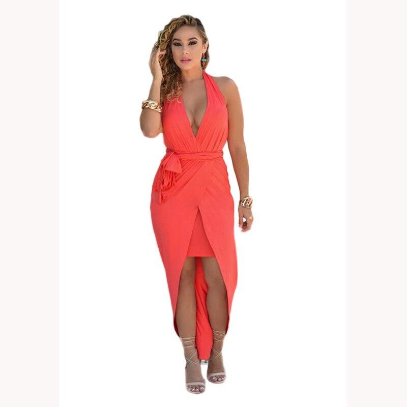 Vestido de verano 2016 wanita musim panas dresses halter off bahu gaun kain  untuk wanita mujer femme partai klub seksi backless cc0f691d22