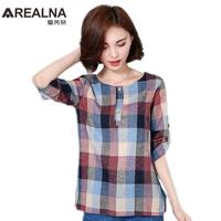 2017 Fashion Women S Blouses Shirts Casual Clothes Long Sleeve Cotton And Linen Women Tops