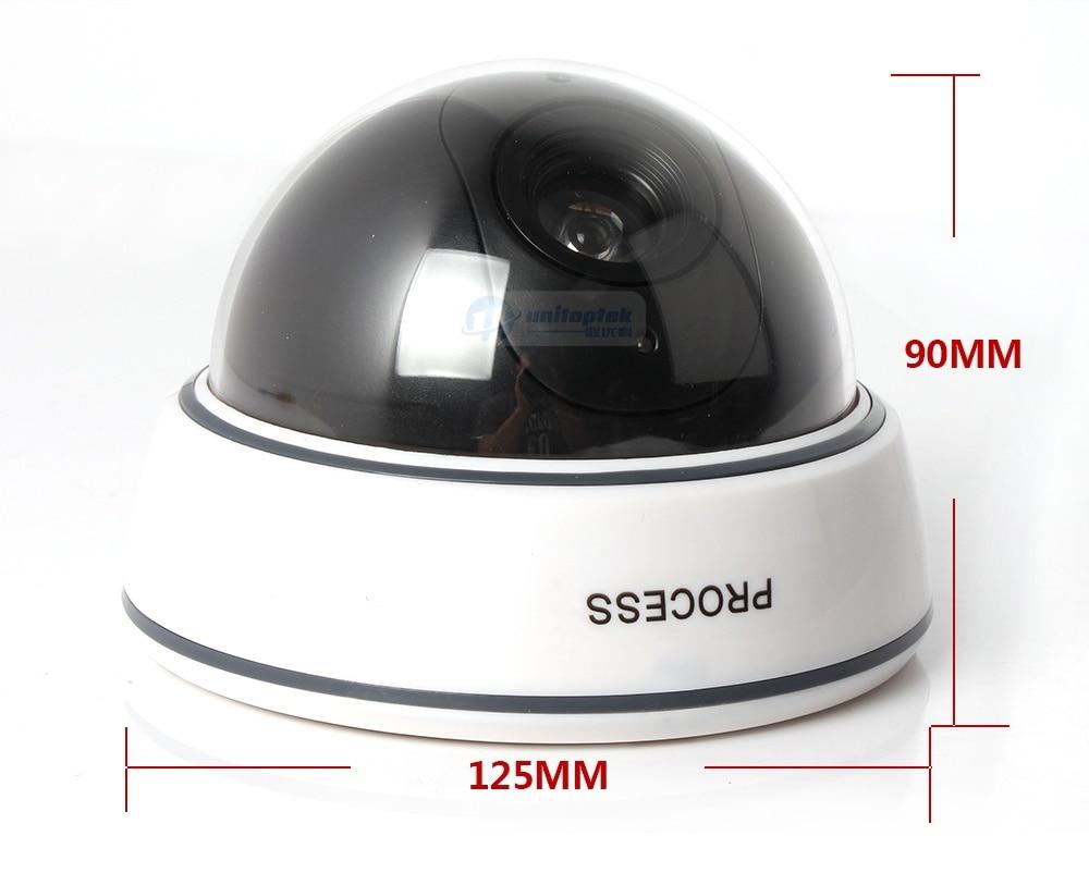 Dummy Camera Fake Outdoor Indoor Weatherproof Fake Surveillance Camera Dome CCTV Security Camera Flashing Red LED Light