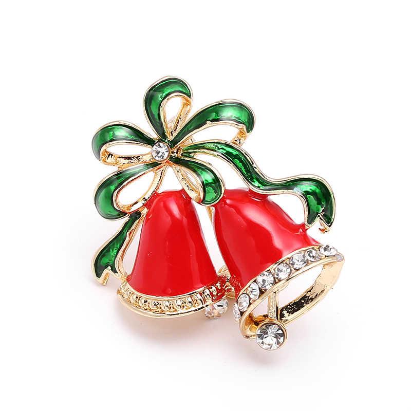 新年ファッションクリスマスブーツのブローチサンタクロース靴キャリッジラインストーンブローチクリスマスカラーストーンブローチ