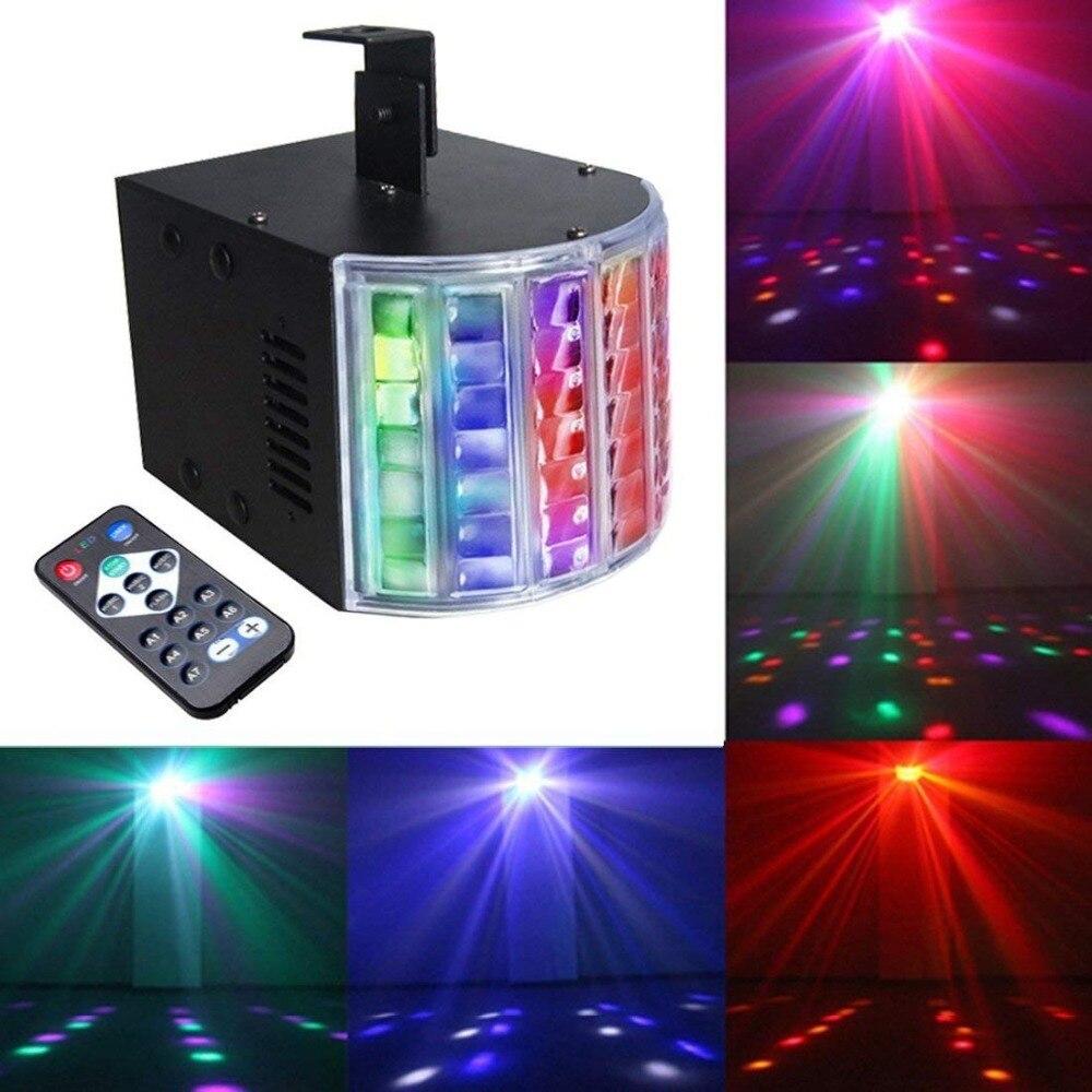 Épée de lumière de vacances DMX 30 W 9 couleurs 14 Modes LED activée par la voix effet de scène lumière Disco DJ Party KTV Bar avec télécommande