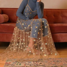 Летнее милое платье из тюля на тонких бретельках, прозрачные длинные женские платья, модное шикарное платье