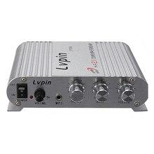 Para Hifi Áudio Estéreo Super Bass Amplificador LVPIN Amp Mp3 para Carro Motocicleta Barco 12 v