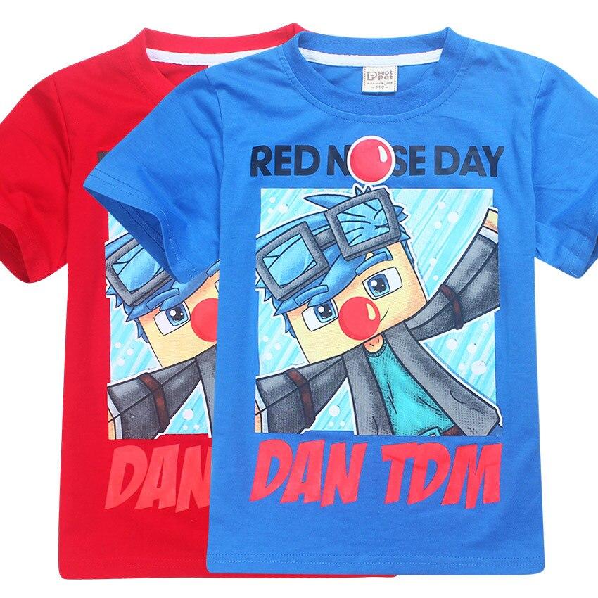 2017 Summer Children's clothing Baby boys T-shirt Legoe batman Ninja Ninjago T-shirt tops ROBLOX RED NOSE DAY T shirt 6-14Years