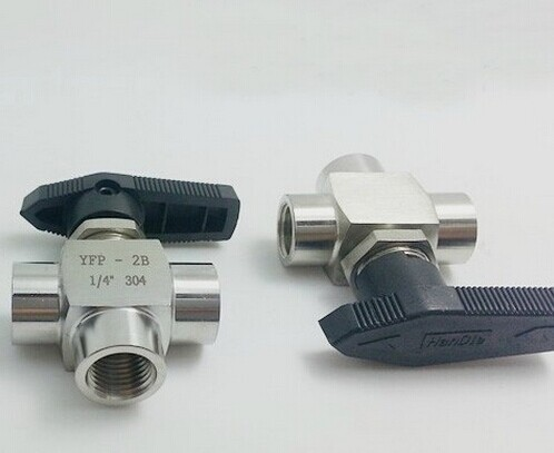 Free Shipping 304 Stainless Steel 3 way stainless Ball Valve 1/2 BSP Female Thread L style 1 4 bsp male to female thread 2 way 304 stainless steel dn8 2 pieces ball valve for water gas oil control