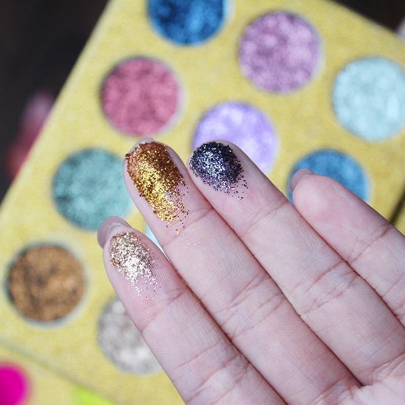 IMAGIC12 Färg Mycket pigmenterad Diamond Glitter Eye Shadow Palette - Smink - Foto 2