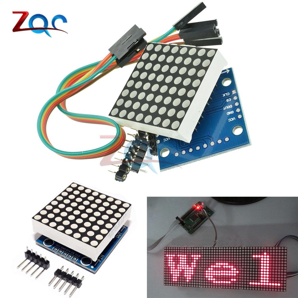 MAX7219 dot LED Display Matrix Module Microcontroller MCU Control Module for Arduino DIY kit