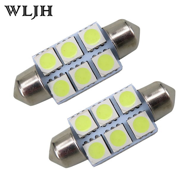 10pcs Super White 36mm Festoon 5050 SMD 6 LED C5W Car Led Auto Interior Dome Door Light Lamp Bulb Pathway lighting 12V Work Lamp