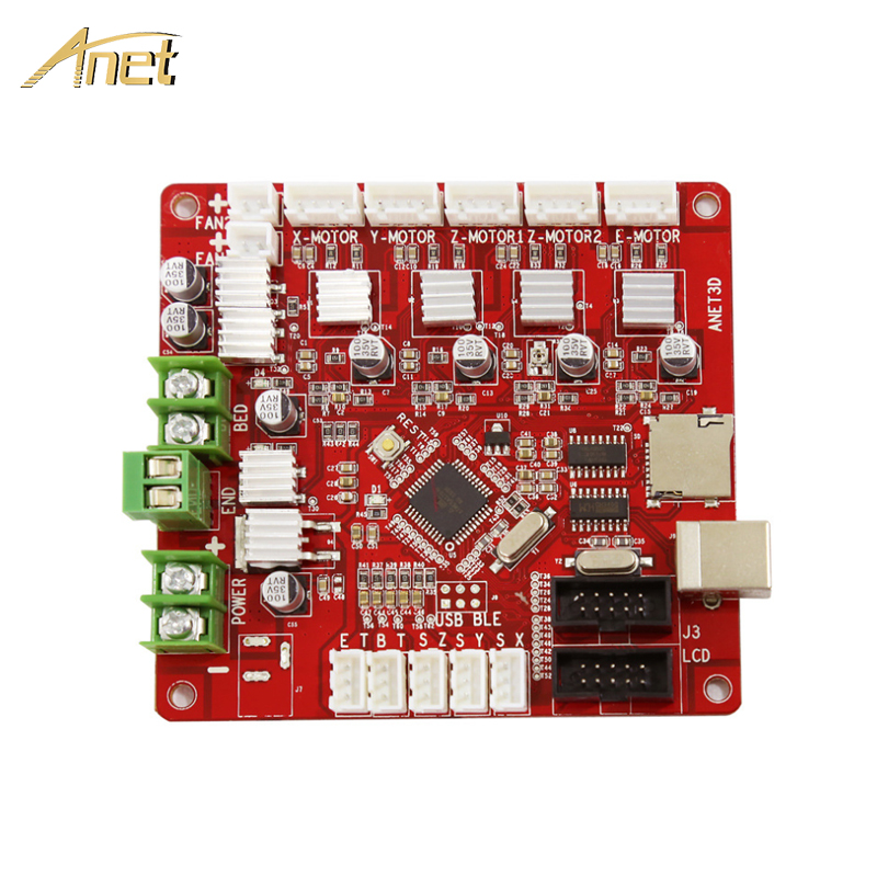 Anet 3D printer main control board Update motherboard V1.5 RepRap Ramps1.4 compatible for Anet E12 Auto/Normal A8 A6 3d printer anet update version controller board mother board mainboard control switch for anet a6 a8 3d desktop printer reprap prusa i3