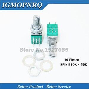 10 шт. RK097G 50K b50k 10K B10K RK097GS одноконтактный потенциометр с переключателем аудио 8pin вал 15 мм усилитель уплотнения Новый