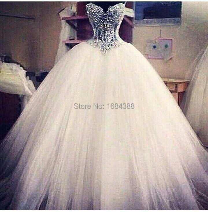 Fashion Dazzling Vestido de Noiva Latest Design Ball Gown Wedding ...