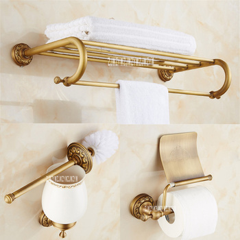 New Artistic Bathroom Accessories Set 3 Pieces, Hardware Pendant Suit, Towel Rack, Toilet Paper Holder, Toilet Brush Hot Selling