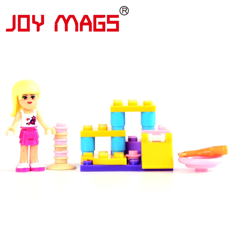 1pc Girl Series Friend Outdoor Pool Kid Baby Toy Building Blocks Sets Model Toys Brick